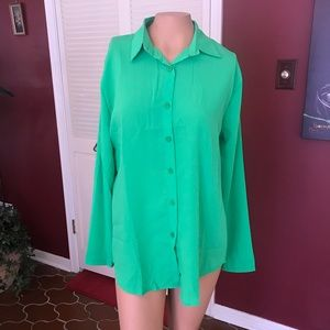 Tops - NWOT Silky Button Up Blouse
